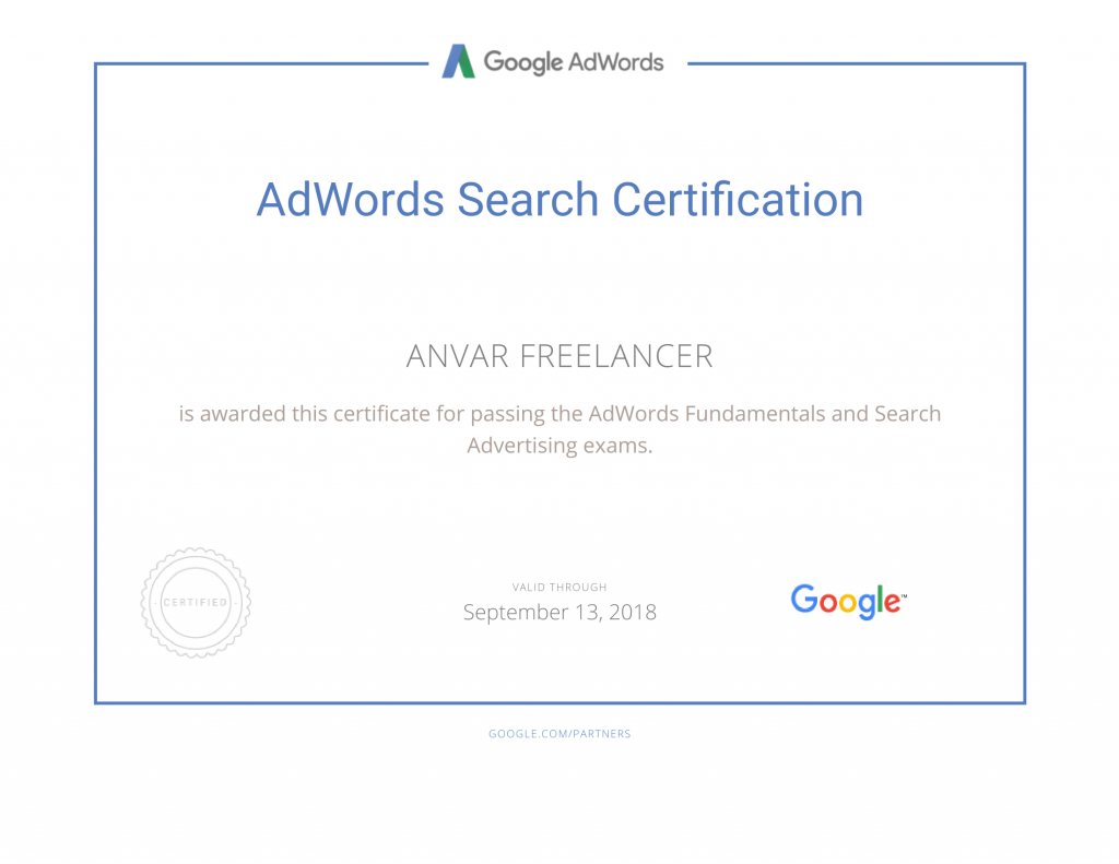 Google Partners - Certification AdWords-1