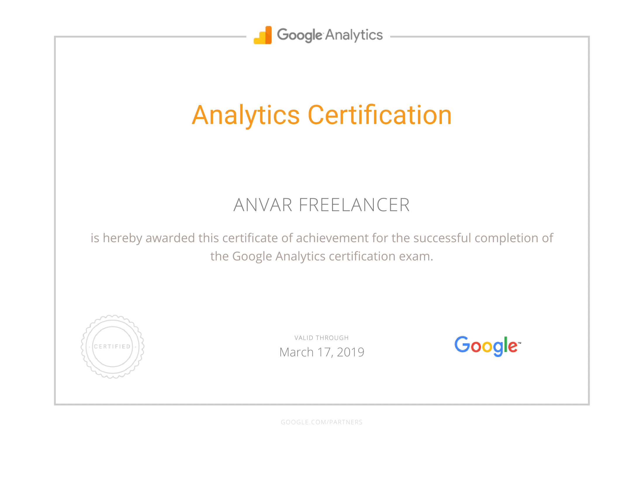 Google Partners - Certification Analytics-1